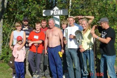 Piiriposti taastamine Eesti keskpunktis 11.sept